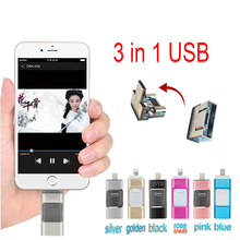 MiNi Metal memory stick mobile Otg for iPhone FLASH Drive 16G 32GB 64GB pendrive flash drive iphone USB Iphone pen for iphones