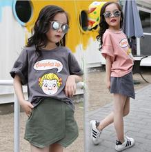 China children clothes sets girl fashion clothing outfits t shirt skirt fashion kids korea boutique kids clothing two piece set
