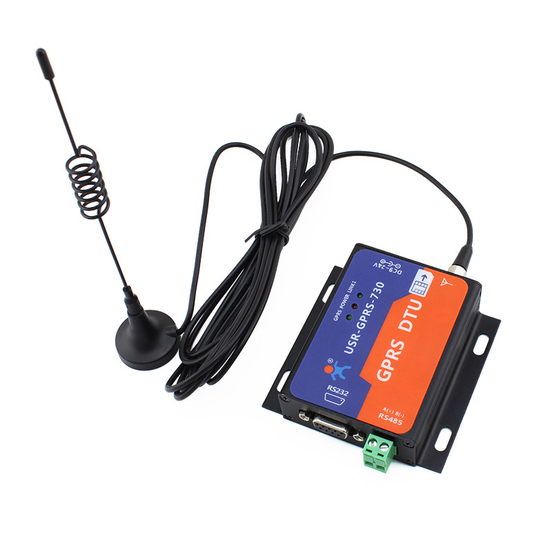 Q19025 USR-GPRS232-730 RS232 / RS485 GSM Modems Support GSM/GPRS GPRS to Serial Converter DTU Flow Control RTS CTS<br>