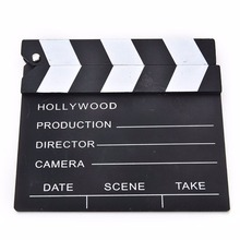 1Pcs Cute Classical Director Video Clapper Board Scene Clapperboard TV Movie Film Cut Prop Wholesale New Arrival