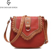 2017 8new colors styles woman messenger bags Fashion hollow national wind shoulder bag Sen Department of Messenger bag(China)