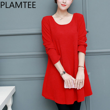 PLAMTEE Oversize Maternity Dress Elegant Bowknot Design Clothes For Pregnant Women Winter Knitting Long Sleeves Pregnancy Tops(China)