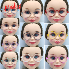 "1pcs round-shaped Round glasses colorful glasses sunglasses fits for 18"" american girl dolls(China)"