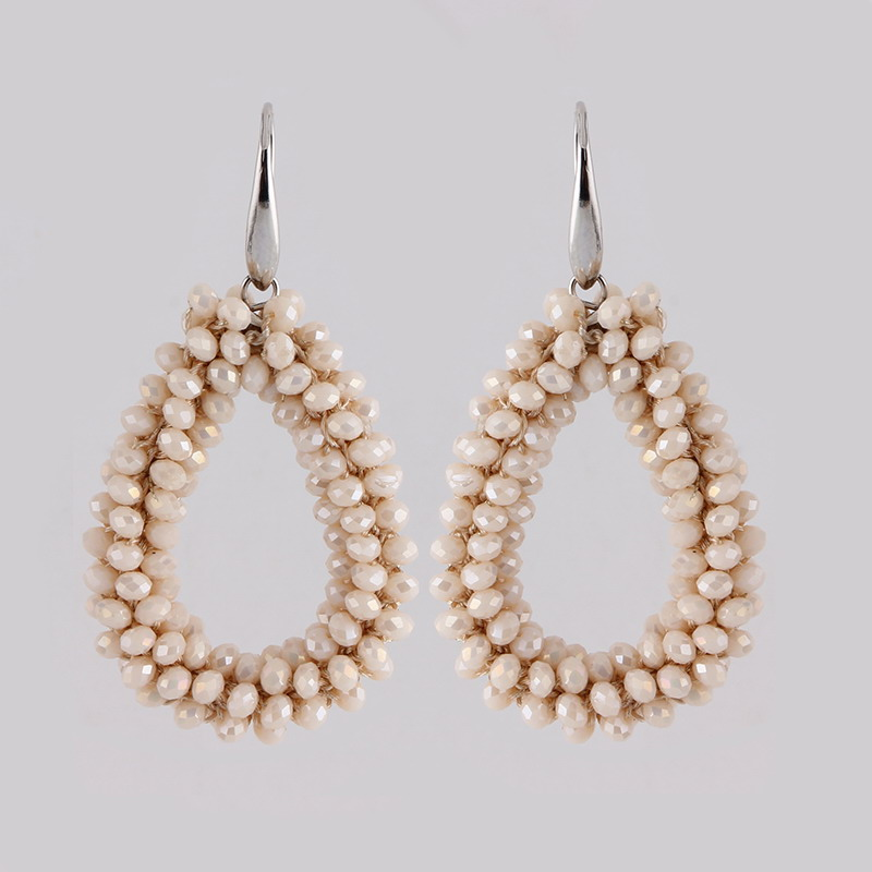 Earrings White AB