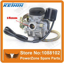 Keihin CVK PD18J 18mm Carburetor Fit Motorcycle GY6 50cc Scooter Moped PD18 Engine 139QMB 139QMA ABM IRBIS BAJA Free Shipping