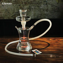 2017 Hottest Classic Glass Hookah Shisha for Smoking Glass Tube Silicone Hose Nargile Cachimba Waterpijp Online Sale