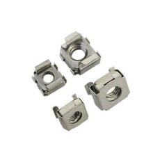 M4/M5/M6/M8 Floating Lock Nuts Cage Cabiet Nut Stainless Steel M8 20PCS(China)