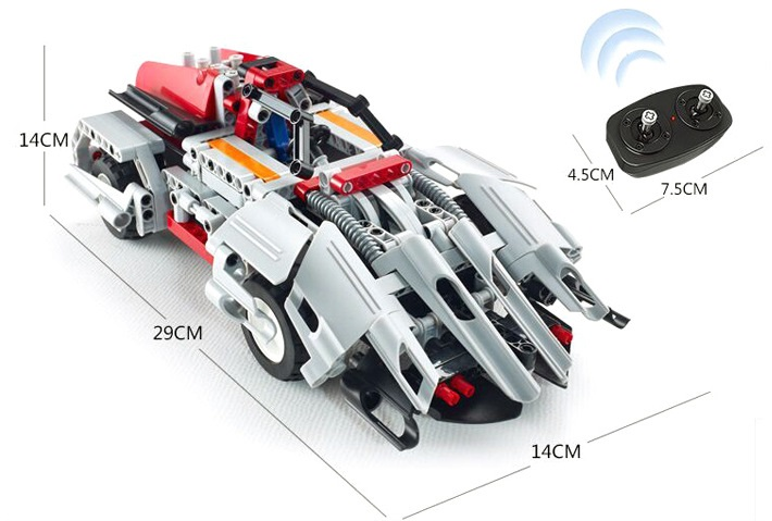 Technic Building Blocks Model Car Compatible with Lego Remote Control Car With Construction DIY educational toys for children<br>