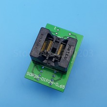 1Pcs SSOP20 to DIP20 Pitch 0.65mm Programmer Adapter IC Test Socket
