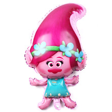 July Forest Free Shipping Trolls Aluminum Balloon Party Toy Party Birthday Decorative Balloon Wholesale(China)
