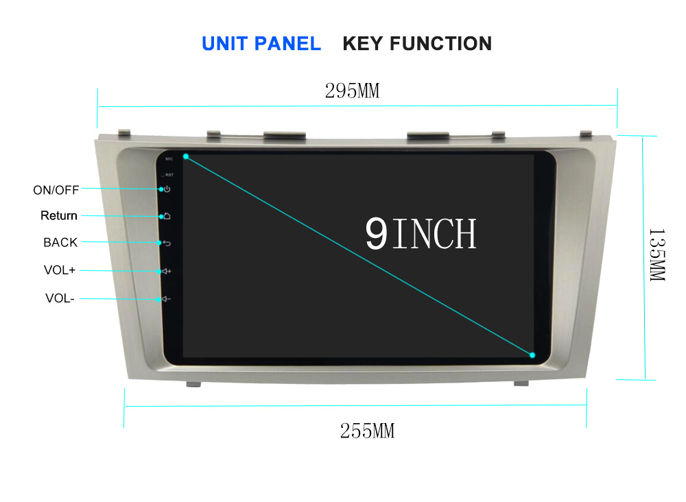 8 Core 1024x600 Android 6.0 DVD GPS Toyota Camry V40 2006-2011 GPS 8 usb flash