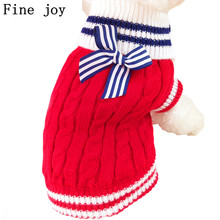 Fine joy 1pcs Pet Dog Coats Sweater Knitwear Outdoor Warm Jumper Outfit Pet Cat Jacket Coat For Small Dogs Chihuahua Teddy
