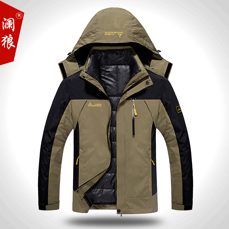 2017 New Plus size L-6XL winter jacket men 8 colors Down jacket Plus velvet warm wind parka black hooded winter coat men