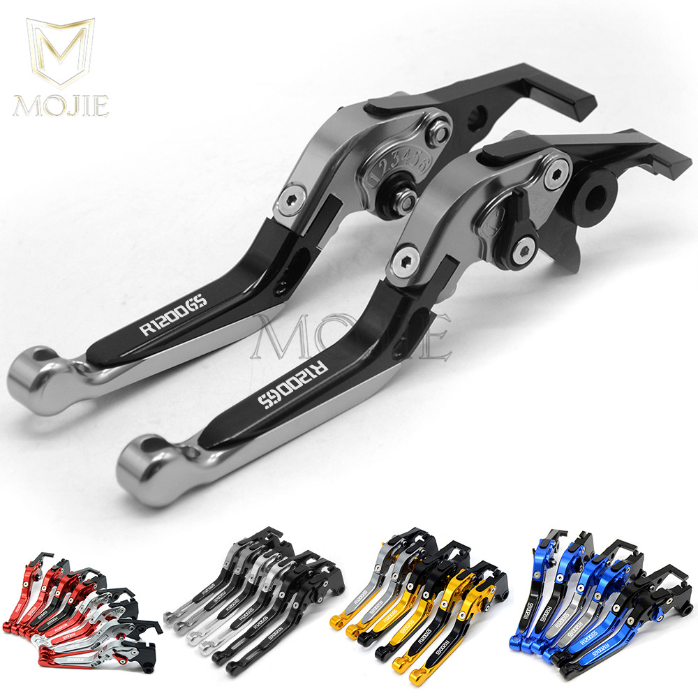 2013-2018 Motorcycle AccessoriesAdjustable Foldable Extendable brake clutch levers Blue For BMW R1200R R1200RS 2015-2018 For BMW R1200GS LC