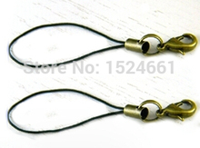 Cord wire Phone Strap (ancient bronze) *waxed thread for leather leather cord rope copper wire