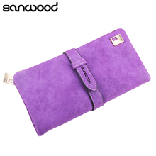 Women's Vintage Long Faux Leather Trifold Purse Coin Wallet Handbag Money Bag BW1Y(China)