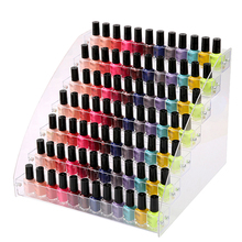 Mordoa Fashion 7 Tiers Cosmetic Makeup Nail Polish Varnish Display Stand Rack Holder Organizer Storage Box 31*31cm(China)
