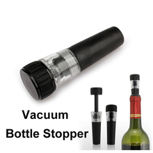 1 pcs Wine Vacuum Bottle Stopper Red Wine Champagne Bottle Preserver Air Vacuum Pump Sealed Saver fit standard necks(China)