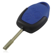20S/LOT Replacement 3 Button Transit Connect Set Remote Key Shell For Ford Blue Case with logo free shiping