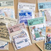 Vintage Classic Travel Stamps Map Decorative Stickers Diary Scrapbooking Sealing Sticker DIY Retro Paper Sticker Stationery Gift(China)