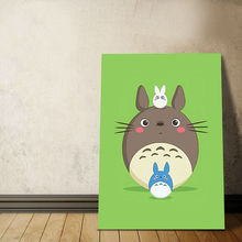 Diy oil painting Cute cartoon animals digital paint by numbers drawing practice for kids coloring by numbers
