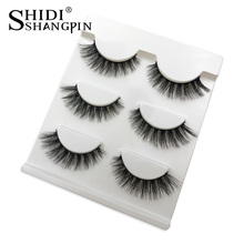 3 Pairs Soft Mink Eyelashes Makeup Fake Eye Lashes Natural False Eyelashes Eyelash Extension Non Magnetic 3d Mink Lashes(China)