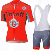 Red Cycling Jersey Sets Sports Cycling Wear Mens Team 2017 Cycling Clothing Bike Cycling MTB Jersey(China)