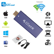 EZCast 4K TV Dongle Dual Band 2.4GHz 5GHz WiFi Miracast Airplay DLNA HD TV Stick For IOS Android Windows Mobile Phone Tablet PC