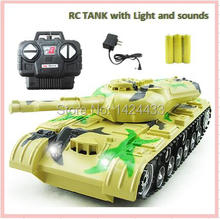 Low Price 1:22 Remote Control Model 4CH RC Car Sound & Light Electric car Tank Gift Miniature Scale Automobiles Machine Kids Toy(China)