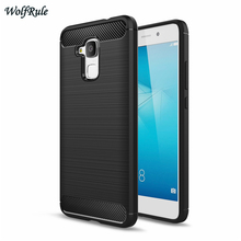 WolfRule For Case Huawei Honor 5C Cover Anti-knock TPU Brushed Business Mobile Phone Case For Huawei Honor 5C Case Honor5C <[