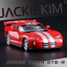 High Simulation Exquisite Collection Toys: Kinsmart Car Styling Dodge Viper GTS-R Model 1:36 Alloy Supercar Model Fast&Fruious