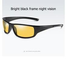 d667ce0645f37 Visão noturna HD óculos de Sol Dos Homens Polarizados Esporte Goggles Óculos  Vintage Clássico Mulheres óculos de Sol Anti-reflex.