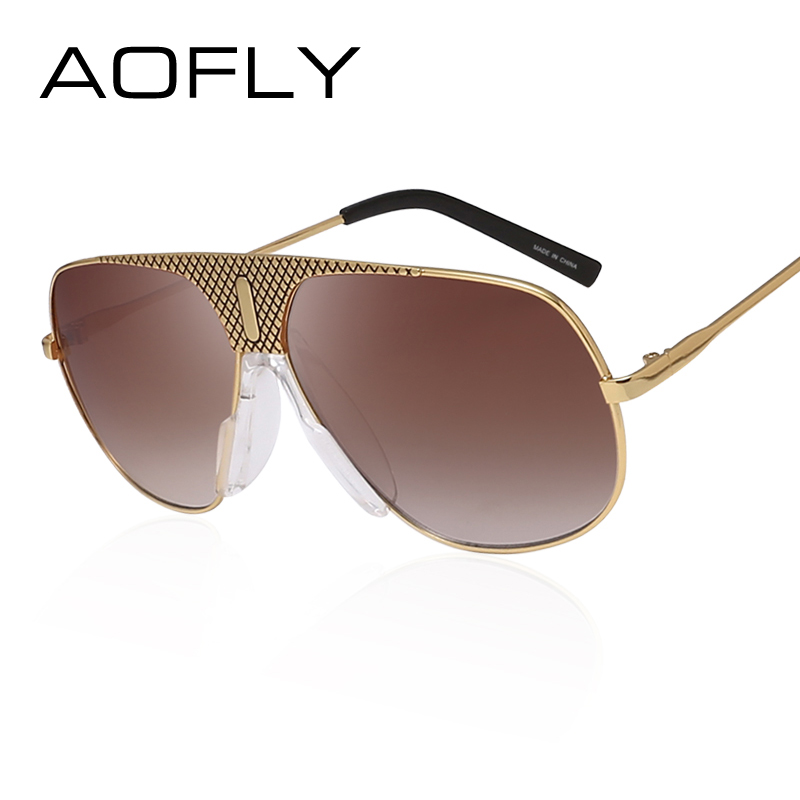 AOFLY Men Steampunk Sunglasses Male Vintage Coating Mirror Metal Sun glasses Brand Designer Goggles Gafas Masculino With Box<br><br>Aliexpress