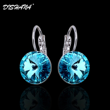 2016 Dangle Trendy Earrings With Crystals womens fashion drop and dangle Cubic Zirconia earrings Jewelry Gold Plated Earing For Women Drop Stone pendientes cristal(China)