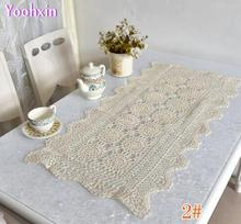 Modern Cotton Crochet tablecloth white Table cloth mat lace square handmade Table Cover Nappe kitchen Christmas wedding decor