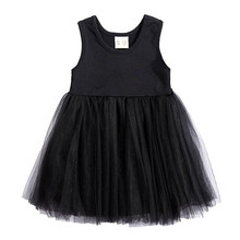 Summer Sleeveless Baby Girls Vest Princess Dress Cotton Mesh Kid Party Pageant Wedding Bridesmaid TutuBaby Girl Dresses(China)