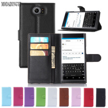 For Blackberry Priv Case Luxury Wallet PU Leather Case Cover For Blackberry Priv Flip Protective Cell Phone Shell Back Cover(China)