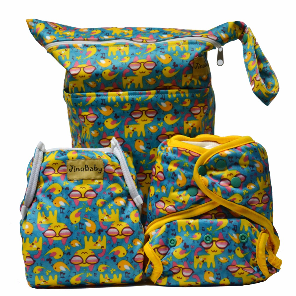 Cool Kittens Purrrrfect O.N.E. Bamboo Cloth Diapers (Bamboo Washable Diapers+Swim Diaper+Diaper Bag)<br>