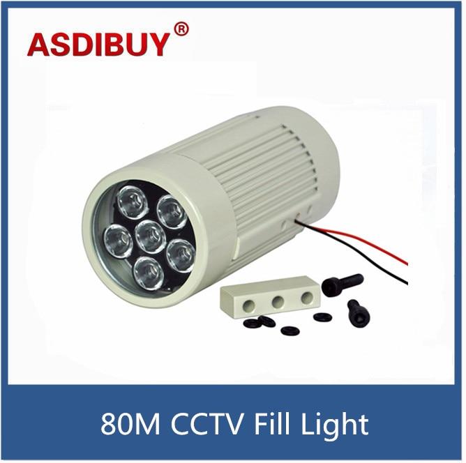80M IR distance 12W 6pcs IR Illuminator Array Leds Night-vision Fill Light road security lights for CCTV security Camera <br>
