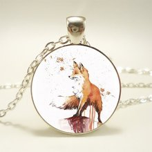 Buy 1pcs Autumn Fox Pendant Choker Statement Silver Necklace Women Dress Accessories Abaicer Jewelry HZ1 for $1.11 in AliExpress store