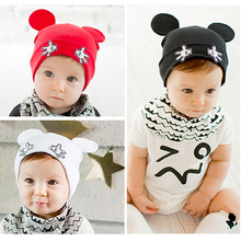 Cute Cartoon Ear Baby Hats Soft Cotton Kids Hats Boy Beanie Caps Infant Baby Bonnet Chilren's Hats Newborn Baby Photo Props Caps