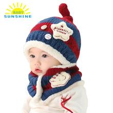 Knitted Cartoon Caps For Newborns Unisex Toddler Baby Boy Girl Hats Soft Cute Cap Beanie Contrast Color Pattern Gorro Infantil