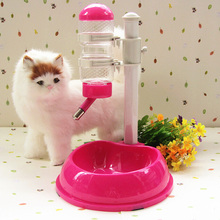Pet Cat Dog Water Drinker Dispenser Food Stand Hamster Feeder Dish Bowl Bottle Automatic Fountain Drinker IC970605(China)