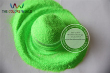 02 Neon Green Colors 0.2mm size solvent resistant glitter for nail gel nail polish or Other art Decoration(China)
