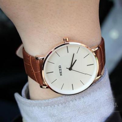 KEZZI Brand Leather Strap Couple Watches Formal Analog Japan Movement Waterproof Quartz Watch Ladies Watch Wrist Watches For Men<br><br>Aliexpress