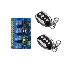 DC12V  24V  48V  4 channel  RF Wireless Remote Control Switch System 1 receiver  & 2  transmitter  Household appliances/lamp