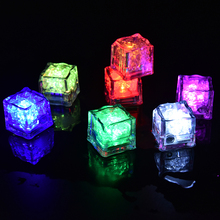 Wedding Celebration LED Ice Cubes Lamps Change Water Sensor Light for Wedding Party Festival Supply 7 Colors 1Pcs
