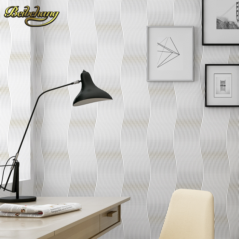 beibehang papel de parede Dimensional 3D square grid pvc wallpaper modern minimalist living room sofa TV wall personalized<br>