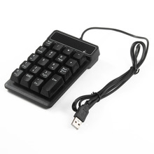 Mini Slim 19 Keys Wired Accounting Keyboard Numeric Keypad Mechanical Feeling for Laptop PC Computer High Quality and Hot Sale(China)