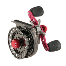LEO Fishing Reel Ice Fly Reel Raft Fishing Right/Left Hand Aluminum Alloy Reel Fishing Tackles Lightweight 2.6:1 Gear Ratio